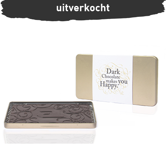 Luxury chocolate steelbox bar dark