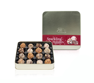 Sixteen-pack goldbox ornaments