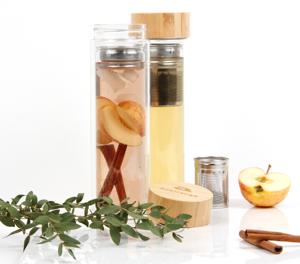 Glass thermos to go - fresh mint