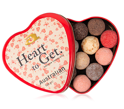 Thirteen-pack chocolates steelbox heart