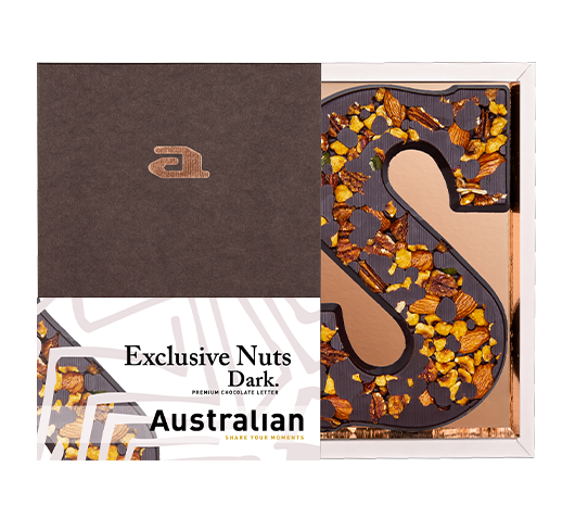 Chocolate letter exclusive dark S