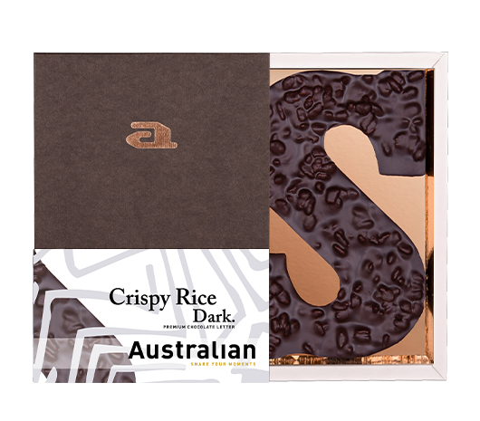Chocolate letter crispy rice dark