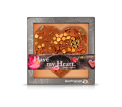 Chocolate heart milk exclusive nuts